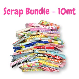 Fabric Scrap Bag - 10 METRE BUNDLE